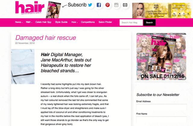 Hair Magazine Hairapeutix